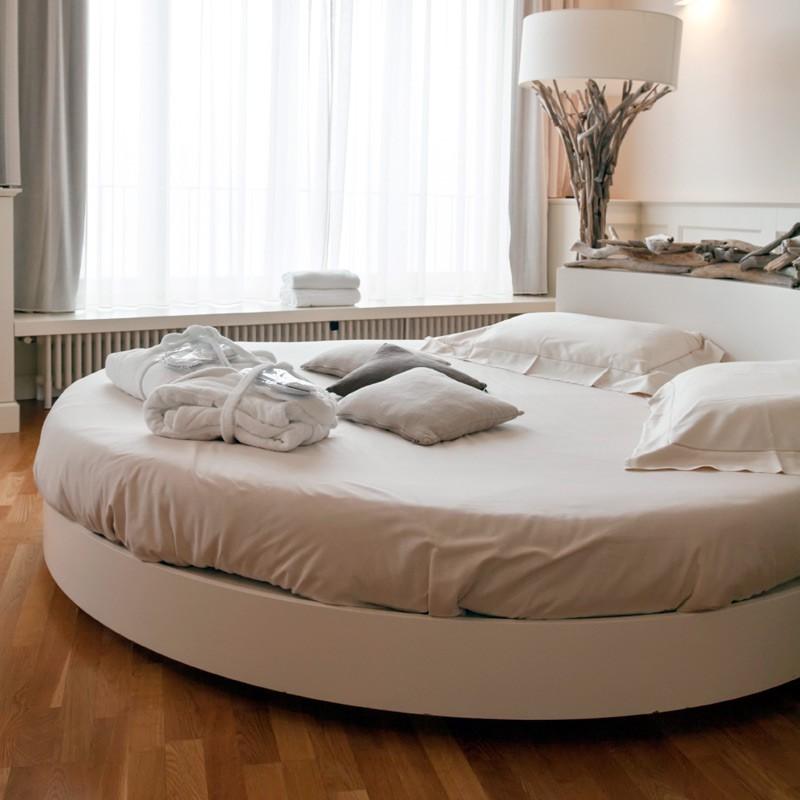 Drap plat rond satin de coton - Drap housse pour lit rond ...