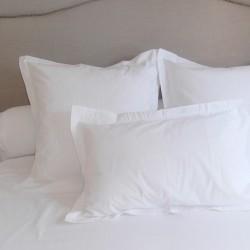 Taie d'oreiller avec volant Coton