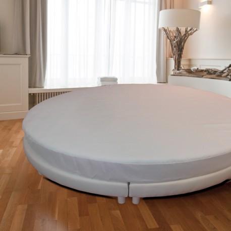 drap housse rond coton. Black Bedroom Furniture Sets. Home Design Ideas